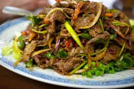 cr r cuisine i ate spicy lao cold beef salad food