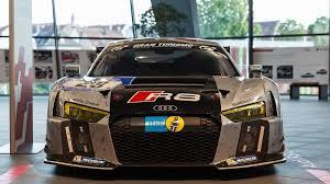 Audi R8 Lmx - audi r8 lms gt3 brings thunder to showroom floor