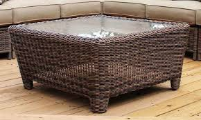 wicker side table with glass top coffee tables ideas best wicker coffee table outdoor outdoor round
