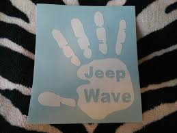 jeep wave sticker mirror jeep wave mirror decal sticker sports outdoors in york pa