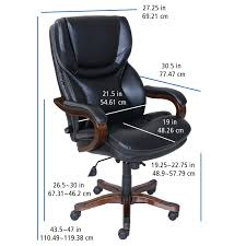 Charles Jacobs Computer Desk Serta At Home 46859 Executive Office Chair In Black With Bonded