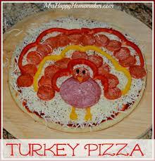 turkey pizza as in it looks like a turkey mrs happy homemaker