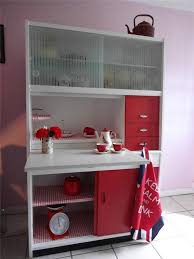 Retro S Kitchen Red White Hygena Larder Kitchenette - Ebay kitchen cabinets
