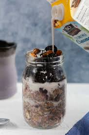 blackberry hazelnut overnight oats 5 ingredient recipe