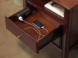 Nightstand With Charging Station Smoon Co