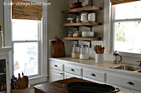 vintage home love reclaimed wood kitchen shelving reveal homes