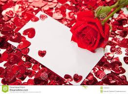 Red Invitation Cards Red Rose And Blank Invitation Card Royalty Free Stock Photography