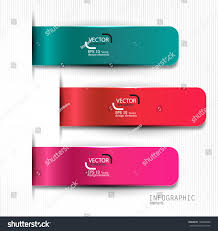 set bookmarks stickers labels tags vector stock vector 130688246