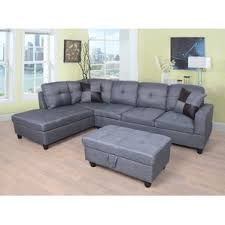 Charcoal Gray Sectional Sofa Chaise Lounge Gray Sectional Couch You U0027ll Love Wayfair