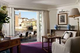 hotel lungarno panoramic view over arno river and ponte vecchio