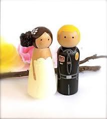 army marines wedding cake topper custom uniform bride and groom