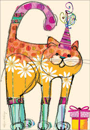 colorful happy birthday cards for cats it takes two inc