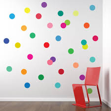 wall decals 36 confetti rainbow of colors polka dots zoom