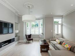Wainscoting Grey Walls White Crown by Colour Combination For Walls Of Living Room Living Room Modern