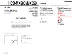 sony hcd mx500i hcd mx550i service manual free download
