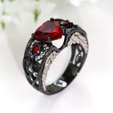 black ruby rings images July birthstone black gold filled ruby angel wing ring fantasy jpg