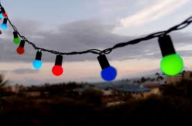50 multi color rgb led large string lights 17ft black