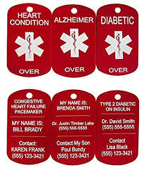 laser engraved dog tags laser alert custom engraved medic id