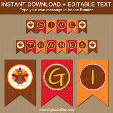 thanksgiving banners printable banner templates digital