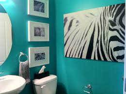teal powder room it all started with the big ikea zebra print
