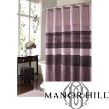 Purple And Brown Shower Curtain Manor Hill Shower Curtain Ebay