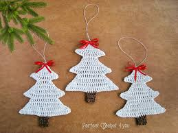 crochet tree decoration white tree