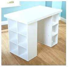 counter height craft table counter height work table kitchen small craft desk storage wooden