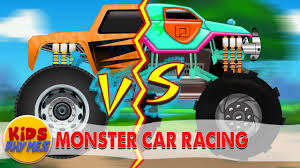 monster truck video for toddlers monster truck racing cartoon video for childrens learning