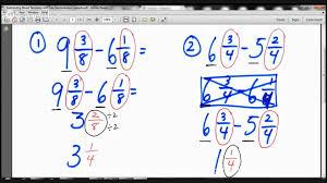Subtracting Mixed Fractions Worksheets 4th Grade Subtracting Mixed Numbers With Like Denominators Lesson