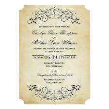 vintage wedding invitations flourish zazzle