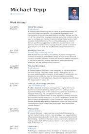 resume for software developer senior developer resume samples visualcv resume samples database