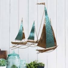 wooden sailboat wall decor wayfair