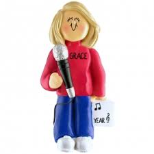 singer ornaments gifts personalized ornaments for you