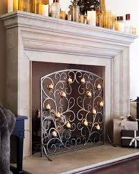 interior decorative fireplace screens designs metal fireplace