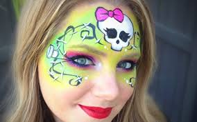 monster high halloween makeup tutorial images
