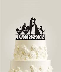 cat wedding cake topper personalized wedding cake topper with your last name