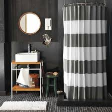 masculine bathroom shower curtains masculine bathroom with stripes shower curtains and black walls also