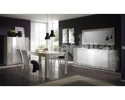 meuble de charme salle à manger en panneaux de particules et mdf en blanc laqué et