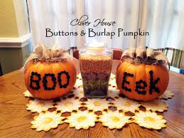 foam pumpkins clover house buttons and burlap pumpkins an easy pictorial