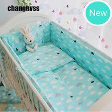 Nursery Cot Bedding Sets Soft Green Crib Bedding Set Newborn Baby Cot Bedding Quilt Pillow