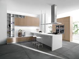 Kitchen Without Island Kitchen Decor With Rustic Wooden Kitchen Cabinets And Long Neck