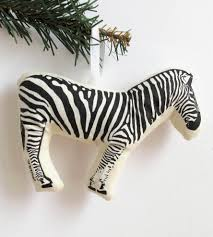 zebra ornament features happy holidays broderpress scoutmob