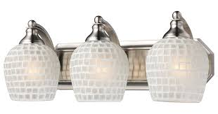 elk 570 3n wht 3 light vanity in satin nickel and white mosaic