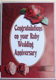 Ruby Anniversary Invitation Cards Verona U0027s Cards For You Ruby Wedding Anniversary