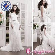 sa6206 egypt wedding dress wholesale simple long sleeve wedding