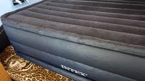 intex beds intex raised downy air mattress youtube
