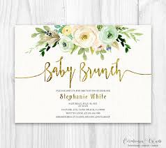baby brunch invitations neutral floral baby shower invitation brunch for baby