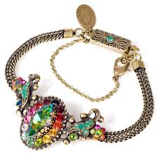 crystal design necklace images Michal negrin snake chain bracelet with oval crystal design multi jpg