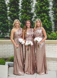 gold bridesmaid dress gorgeous one floor length sequined gold bridesmaid