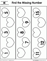 shamrock fill in the missing numbers printable a to z teacher
